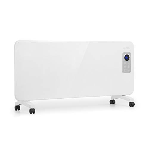 Klarstein Hot Spot CV20 Konvektorheizung - mobiles Heizgerät, Elektro-Heizung, 1000 oder 2000 Watt, Thermostat, LCD-Display, Touch-Bedienung, IP24, inkl. Fernbedienung und Bodenrollen, weiß
