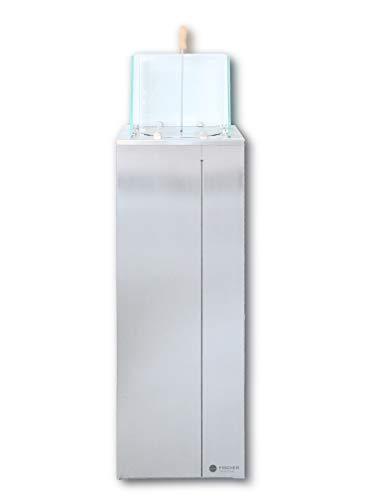 FISCHER Ethanol-Säule Edelstahl für Garten, Terrasse oder Innenbereich ***NEU***