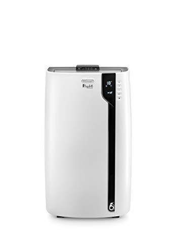 De'Longhi Pinguino PAC EX100 Silent mobiles Klimagerät mit Abluftschlauch, Klimaanlage für Räume bis 110 m³, Luftentfeuchter, Ventilationsfunktion, 24h-Timer, weiß