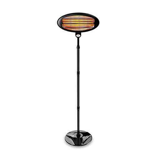 SUNTEC Infrarot-Heizstrahler   Heat Carbon Wärmestrahler für Terrasse   Outdoor Terrassenheizer für Balkon, Garten Infrarotstrahler Strahlwasser-Schutz (Night Sun)
