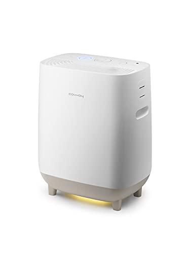 COWAY Hue&Healing 2-in-1 Luftreiniger & Luftbefeuchter   Extra leise für Baby- und Schlafzimmer   Entfernt 99,5% der Partikel ab 0,3 µm, Pollen, Bakterien, Schimmel, Viren & Aerosole   Smart Light
