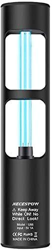 UV-Desinfektionslampe, NECESPOW Ozon-Ultraviolett-Sterilisator-Licht für Garderobe Haustier Bereich Toilette, Wiederaufladbare UV-Licht Einfache Bedienung, 360 Grad Tötet Bakterien Keime