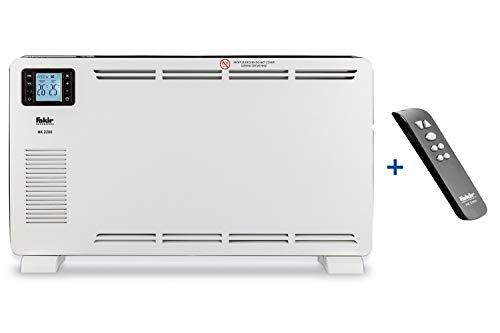 Fakir HK 2200 / Konvektor-Heizung, Elektro-Heizkörper, Konvektions-Heizgerät , 3 Heizstufen, mit Fernbedienung, LCD-Display, Raumthermostat, Kipp & Übertemperaturschutz – 2.200 Watt