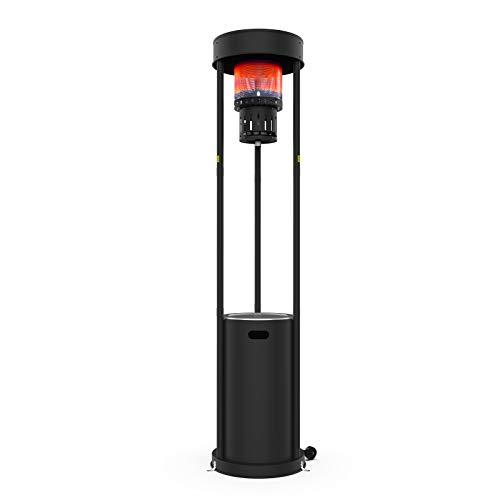 Terra Hiker 16 kW Terrassenheizer Gas Heizstrahler, Stehende Gas terrassenheizstrahler mit Rädern für Restaurant, Bar, 15 Minuten Montage, verwendet Propan oder Butan oder LPG Gas