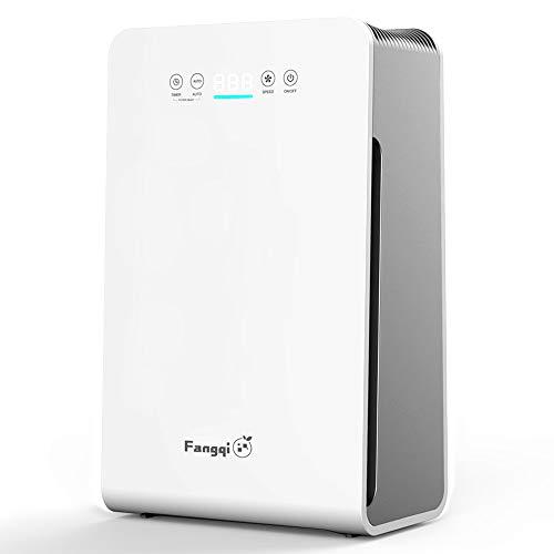 i@HOME Luftreiniger mit Luftqualitätsanzeiger, HEPA Luftreiniger mit Automatischen Reinigungsmodus, Ionisator CADR 270m³/ h, bis zu 59 m², 8 Timer, 99,97% Filterleistung