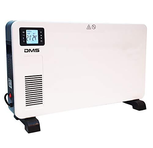 DMS Elektroheizung Konvektor Heizung, Heizkörper, Konvektions Heizgerät, 3 Heizstufen, Elektroheizer mit Fernbedienung, LCD-Display, Raumthermostat 2300 Watt EHK-2300