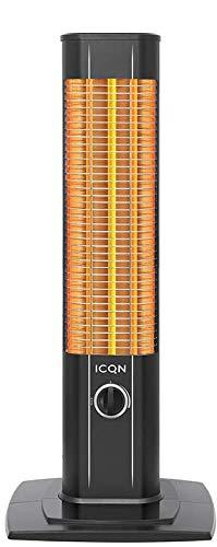 ICQN Stand Heizstrahler | Infarot | Infarotheizung für Innen- & Außenbereich | Standheizstrahler | Standgerät | IP20 | Digitalanzeige | IC1200.RB (1200 Watt)