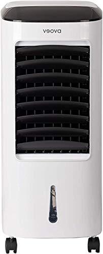 Veova Air Cooler PRO Mobiles Klimagerät mit Entfeuchtungs-Funktion | 3in1 – Luftkühler, Entfeuchter und Luftreiniger | mobile Klimaanlage mit Timer & Fernbedienung | optimal bis 40m² | Weiß