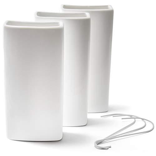 Ligano® Heizkörper Luftbefeuchter weiß – Keramik Wasserverdunster für die Heizung – 3 Stück