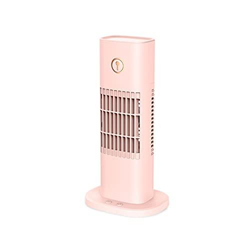 Mobile Klimageräte Mini Luftkühler, Mobile Klimaanlage Leise, Air Cooler Klimagerät Mini 3 In 1 Ventilator, Luftbefeuchter, 3 Geschwindigkeiten,Luftkühler Klein Für Zuhause Und Büro ( Farbe : Rosa )