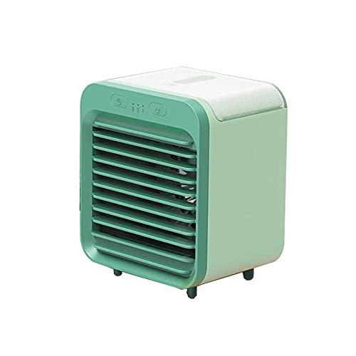 Mini Klimageräte 3 In 1 Tragbar USB Mobile Klimaanlage Persönlich Ventilator Klein Leise USB Desktop-Luftkühler 3 Windgeschwindigkeiten Luftbefeuchter Air Cooler mit Wasserkühlung für Zimmer, Büro