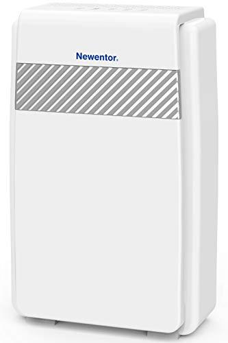Newentor Luftreiniger mit H13 HEPA Aktivkohlefilter, CADR 218m³/h Luftfilter mit Ionisator, 40m², Timer Leiser Schlafmodus, 5-in-1 Filtersystem Air Purifier gegen Pollen Rauch Allergie Staub Gerüche