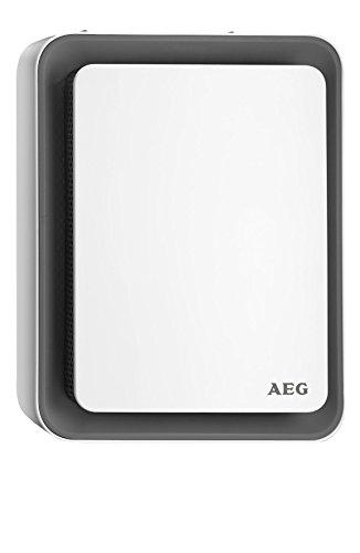 AEG Haustechnik Heizlüfter HS 207 G, einzigartiges Design, Sweet-Air-Technologie, Silent-Air-Flow, Umkipp- und Frost-Schutz, grau, 1,8 kW, 234831