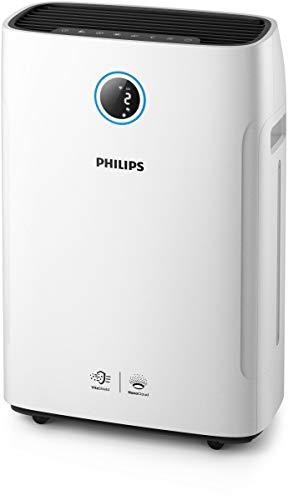 Philips AC279/10 2-in-1 Luftreiniger und-befeuchter Series 2000i (App-Anbindung, bis zu 60 m²), weiß