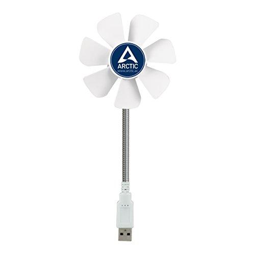 ARCTIC Breeze Mobile - 92 mm USB-Ventilator mit flexiblem Hals, tolle Kühlleistung, Ventilator für das Büro, USB-Gadget, kleiner Ventilator, ideal fürs Home Office - Weiß, ABACO-BZG00-010000