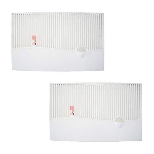 Luftbefeuchter mit Wasserstandsanzeiger Verdunster 2er Set zum Befestigen am Heizkörper +12 Spezialvlieseinlagen, für Räume/Wohnungen bis 40m², Verdampfer, Diffuser a1650
