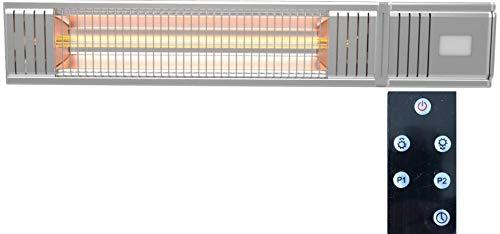 """Millarco 58630 """"Golden-Tube' Terrassenheizer inkl. Fernbedienung für Wandmontage Balkon Wintergarten Heizung Infrarot Halogen Strahler Wand Elektro-Infrarot-Heizstrahler Terrassenstrahler Wärmestrahle"""
