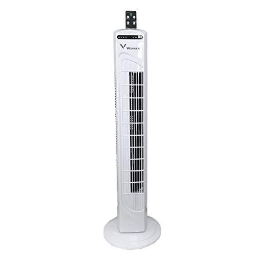 Turmventilator mit Fernsteuerung- Säulenventilator 7,5 Stunden Timer Standventilator - Ventilator - 3-stufigem Windmodus mit 3 Drehzahlen und langem Kabel(1,5m) Weiß