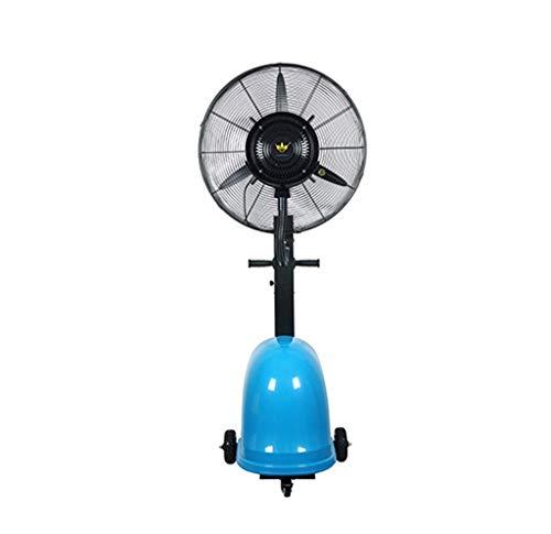 CUIJU Trommelventilator Luftbefeuchter Spray Fan Wasserflasche Pedestal Nebel Befeuchtung Kühlung Standventilator (Blau)