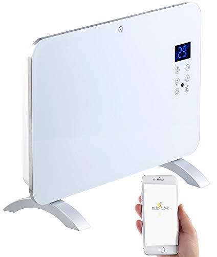 Sichler Haushaltsgeräte Elektroheizung: Konvektor-Heizung mit App, für Amazon Alexa & Google Assistant, 1000 W (Wandkonvektor)