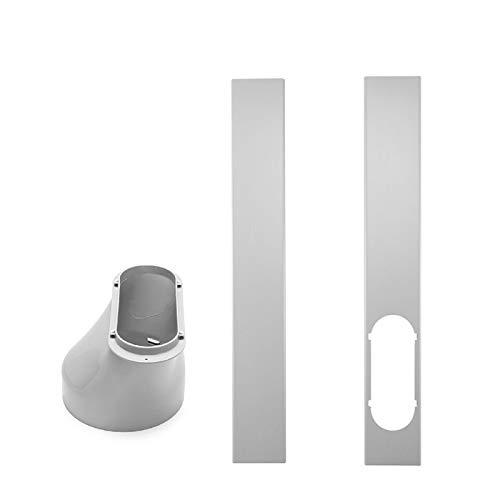 Yestter FensteradapterLokale Klimageräte-Zubehör Progress Component Kit, Ersatzteil-Set Mit Abluftschlauch, Fenster- Und Geräteadapter - Passend Für Alle Geräte (Window Adaptor+Plate(2pc))