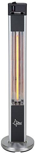 SUNTEC Infrarot-Heizstrahler mit Fernbedienung | Heat Patio 2000 Carbon Wärmestrahler für Terrasse | Outdoor Terrassenheizer für Balkon, Garten max. 2000 Watt Infrarotstrahler Strahlwasser-Schutz