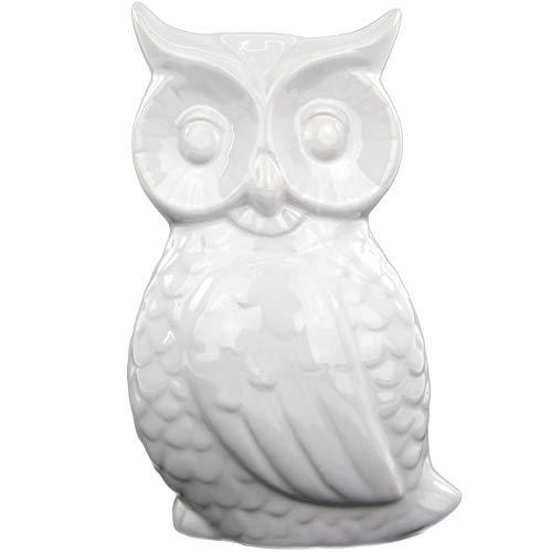 My-goodbuy24 Luftbefeuchter Eule aus Keramik für Heizkörper Raumbefeuchter Luftreiniger Heizung Wasserverdunster Verdamper Klima verdunster in weiß