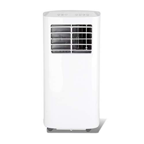 BMOT Mobiles Klimagerät, Klimaanlage 7000 BTU/h mit 3 Funktionen – Kühlen, Lüften, Entfeuchten,inkl. Abluftschlauch und Fensterdichtung, R290, für Räume bis 30㎡ [Energieklasse A]