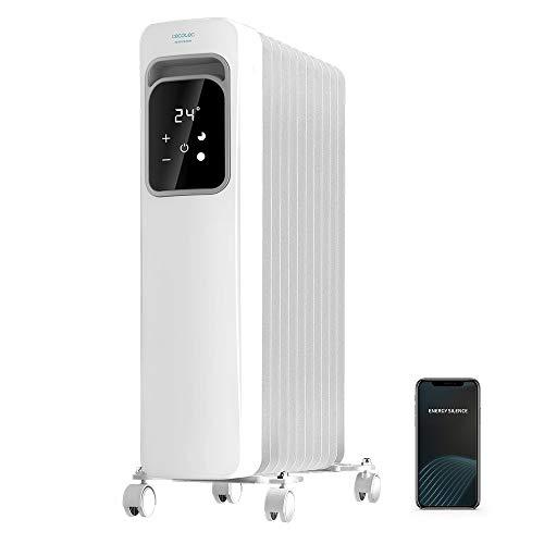 Cecotec Ölradiator ReadyWarm Touch, LCD-Display, Touch-Steuerung, Timer (Weiß 11 Heizrillen + App)