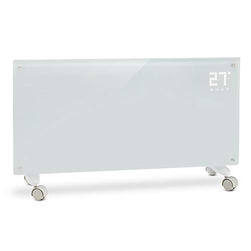 Klarstein Bornholm Elektro-Heizung E-Heizung Konvektionsheizgerät Heizgerät (1000 oder 2000 Watt, 5-45°C, LED-Touch Display, ECO-Modus, 24 h Timer, Fernbedienung) weiß