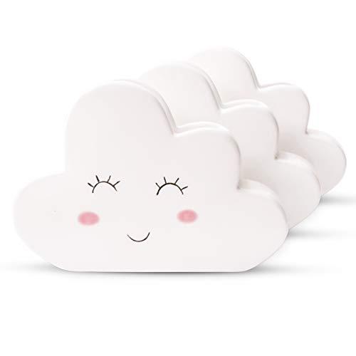 Ligano® Heizkörper Luftbefeuchter mit Wolkenmotiv – Keramik Wasserverdunster für die Heizung im Kinderzimmer – 3 Stück