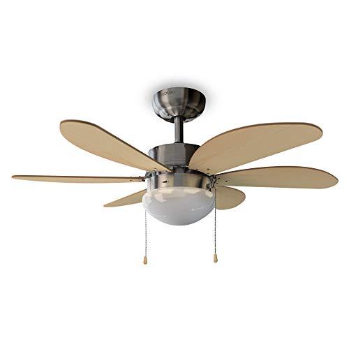 Cecotec EnergySilence Aero 350 Deckenventilator. 81 cm Durchmesser, Licht, 6 Wendbare Flügel, 3 Geschwindigkeitsstufen und Winter-Funktion, 50 W
