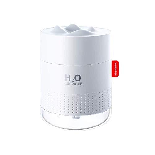 Luftbefeuchter, 500 ML USB Mini Ultraschall Air Humidifier Leise Raumluftbefeuchter-Bis zu 10-16 Stunden Dauerbetrieb Automatische Abschaltung Tragbarer Luftbefeuchter für Haus Yoga Büro+2 Filter
