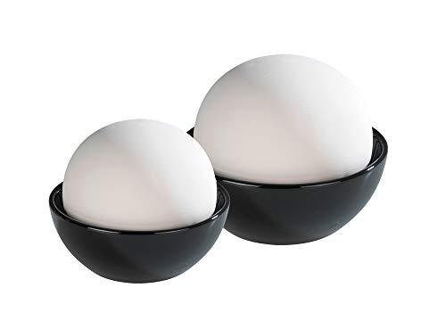 WENKO Luftbefeuchter Rondo - 2er Set, Keramik, 12 x 10 x 12 cm, Weiß