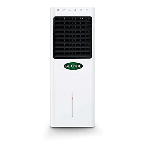 BE COOL Luftkühler, 4 in 1 Verdunstungskühler, Luftbefeuchter, Ventilator, Insektenvertreiber, Schwenkfunktion, Luftreiniger mit Ionisator, 3 Stufen, 9.3 Liter Wassertank, Weiß/Grau