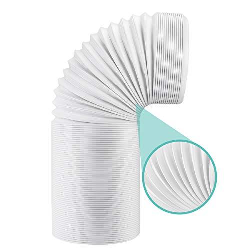 AGPTEK Abluftschlauch 150mm / 1.5m Lüftungsschlauch PVC Flexibler Schlauch für Klimaanlage Klimagerät Abzugshaube Wäschetrockner Trockner Dunstabzugshaube