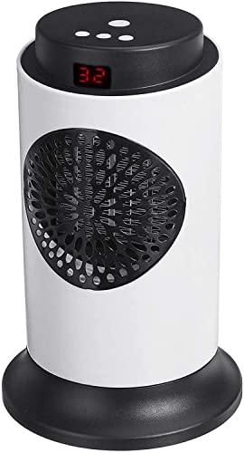 Tragbar Heizlüfter, 1500W Ventilator Heizlüfter Mit 3 Wärmeeinstellungen, LED-Anzeige Und Fernbedienung, für Wohnräume Badezimmer Büro Schlafzimmer Raumheizung, Elektrisch Heizgeräte ,Digital models