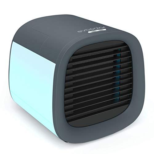 Evapolar evaCHILL Luftkühler & Luftbefeuchter - Leise & tragbar – Kühler für Heim, Büro, Camping, auf Reisen – USB-Anschluss für einfaches Verbinden & integriertes LED-Nachtlicht - grau