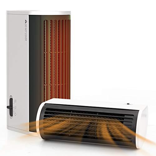 Mibote Heizlüfter energiesparend Keramik 500W Heizstrahler 2S Schnellheizter mit Überhitzungsschutz Wärmestrahler für Haus, Schlafzimmer, Büro-Schwarz