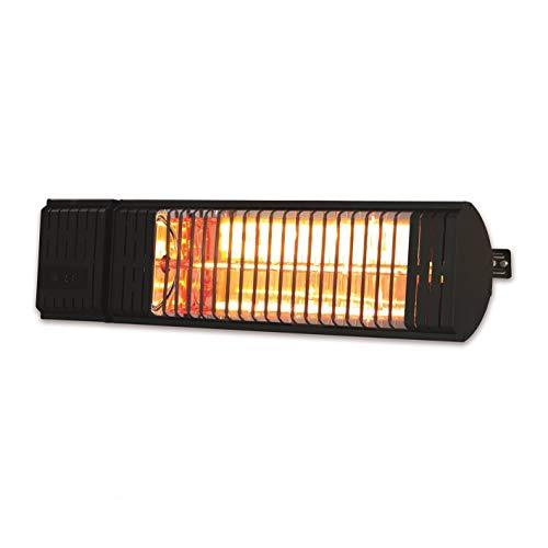 MAXXMEE Infrarot Wärmestrahler | gezielte Wärme ohne Wärmeverlust | Heizstrahler mit 2 Leistungsstufen | für drinnen und draußen [schwarz]