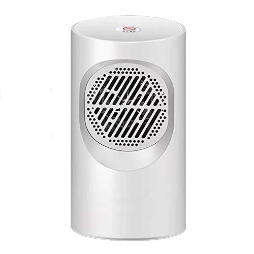 Mini Elektrische Heizung, Heizlüfter Mini Keramik Heizlüfter Steckdosen-Heizlüfter mit Überhitzungsschutz, energieeffizient, mit Thermostat und Timer für Home Office (Weiß)