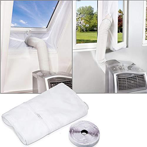 Fensterabdichtung für mobile Klimageräte, Klimaanlagen, Wäschetrockner, Ablufttrockner, Hot Air Stop zum Anbringen an Fenster, Dachfenster, Flügelfenster/Fensterabdichtung Klimaanlage 400cm