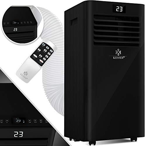 KESSER® - Klimaanlage Mobiles Klimagerät 4in1 kühlen, Luftentfeuchter, lüften, Ventilator - 9000 BTU/h (2.600 Watt) 2,6KW - Mobil Klima mit Montagematerial, Fernbedienung und Timer, Nachtmodus EEK: A