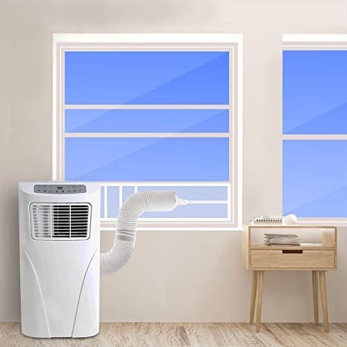 HOOMEE Fensterabdichtung für Mobile Klimageräte, Zum Anbringen an Schiebefenster Vertikal/Horizontal, Fensterabdichtung Klimaanlage für Fensteröffnungen bis 92x25cm, Auf 4 Längen Zuschneidbar