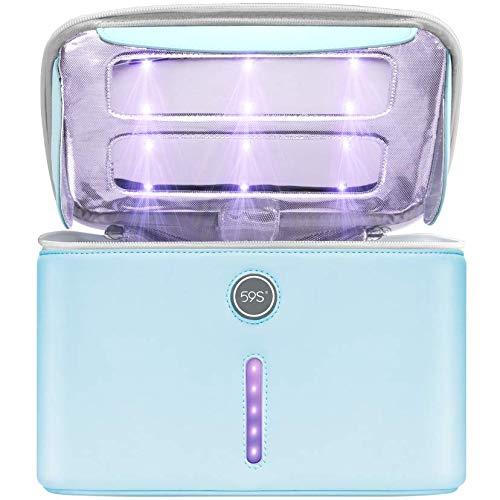 59S UV-Licht-Desinfektionsbeutel mit 24 UVC-LEDs, UV-Telefon-Desinfektionsbox, extra großer UV-C-Lichtsterilisatorbeutel P55 für Handys, Flaschen, Masken, tötet Viren ab