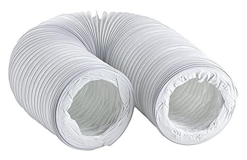 100mm / 6m Abluftschlauch PVC Flexibel Schlauch für Klimaanlagen - Dunstabzugshaube - Trockner