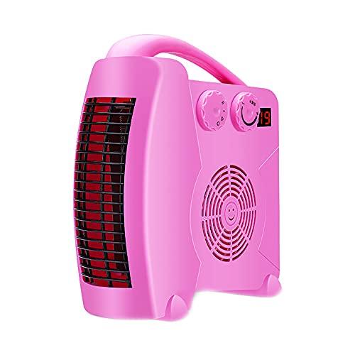 CREACEC Heizlüfter Zwei Leistungsstufen, Heizlüfter Badezimmer Energiesparend Leise Stufenlose Temperaturregelung Heizung Heater,Rosa