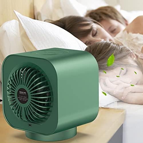 Tragbarer Luftkühler, USB-Tischventilator, Mini-Klimaanlage, 2000 mAh, batteriebetrieben, persönlicher Raumkühler, wiederaufladbarer mobiler Sprühventilator für Zuhause, Büro, Auto, Camping