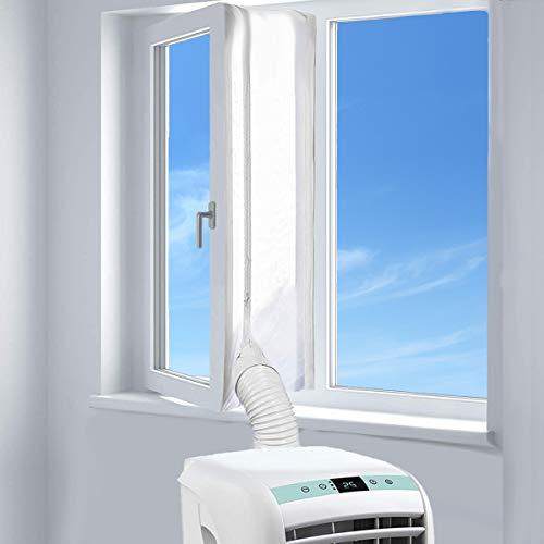 AUGOLA Fensterabdichtung für Mobile Klimageräte, Wäschetrockner und Ablufttrockner | AirLock zum Anbringen an Fenster, Dachfenster, Flügelfenster - Umlaufmaß bis 400cm