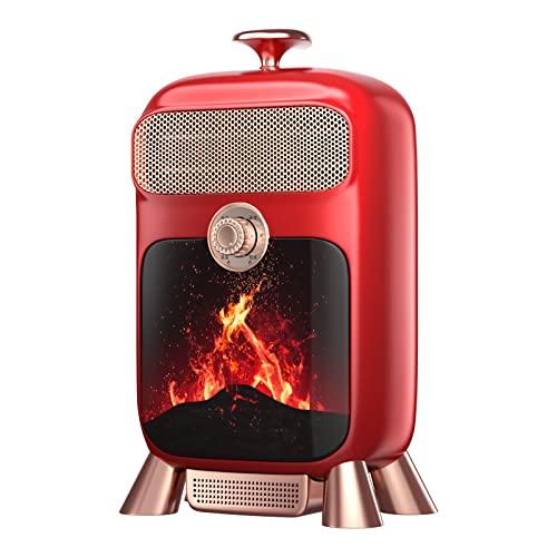 QAZW Heizlüfter Energiesparend Tragbare leise Timing Keramik Heizlüfter,Mit PTC-Keramik Schnellheizer Oszillationsfunktion,2 Stufe Warm Natürlich,für Badezimmer, Büro-Heizung,Red